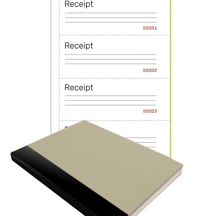 Customised Receipt Books for your business