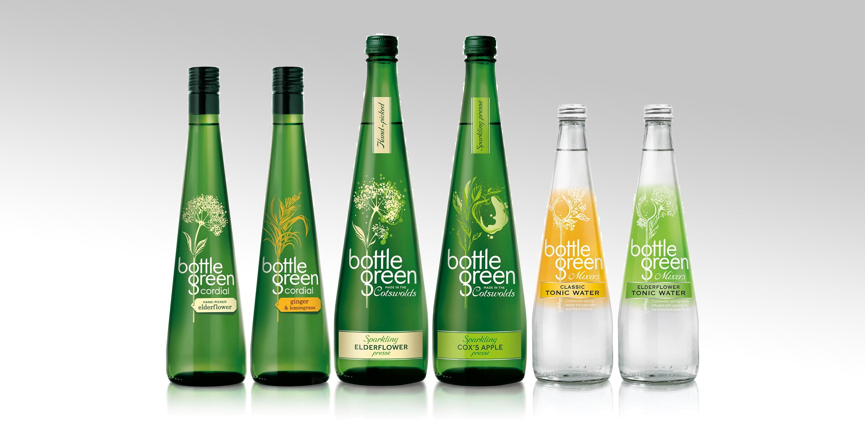 bottle green custom labels