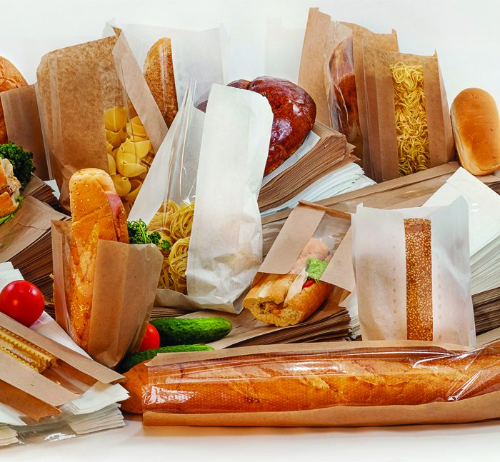 Paper packaging for bread